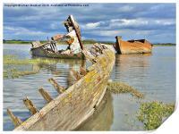 Decommissioned Trawlers., Print