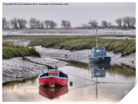 Frosty day at Glasson Dock., Print