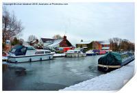 Frozen Garstang Canal., Print