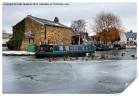 The Frozen Garstang Canal., Print