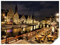 The River Leie-Ghent, Print