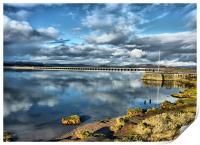 Kent Viaduct and Arnside Pier., Print