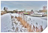 Frozen Lancaster Canal, Print