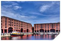 Albert Dock Liverpool, Print