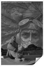 R A F Monuments., Print