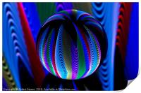 Colours in the crystal ball, Print