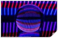 Red and Blue in the glass ball, Print