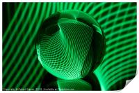 Green in the glass ball, Print