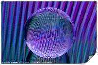 Crystal ball lines 3, Print