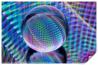 Magic lights in the glass ball, Print
