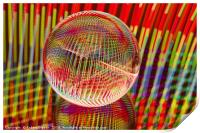 Criss Cross lights in the crystal ball, Print