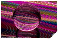 Vivid in the glass ball, Print