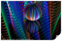 Amazing colours in the glass ball, Print
