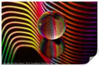 Rainbows two in the glass ball., Print