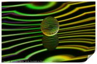 Floating glass ball abstract., Print