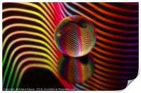 Ocean ripple glass ball, Print