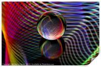 Tartan glass ball, Print
