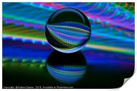 Abstract art All colours in the glass ball, Print