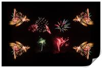 Firework Frenzy, Print