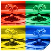 Pop Art Water Drops 2, Print