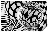 Crystal Ball Op Art 1, Print