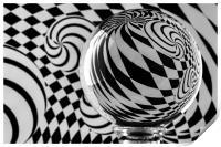 Crystal Ball Op Art 5, Print