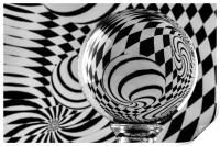 Crystal Ball Op Art 7, Print