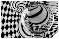 Crystal Ball Op Art 8, Print