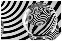 Crystal Ball Op Art 10, Print