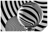 Crystal Ball Op Art 11, Print