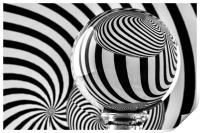 Crystal Ball Op Art 12, Print
