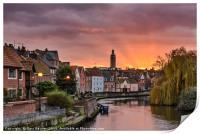 Norwich Quay Sunset, Print