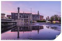 Guildhall Twilight Reflections, Print