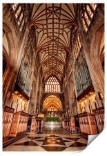 St Mary Redcliff, Bristol. The Nave & Organ., Print