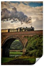 Nunney Castle 5029 Steam Train., Print
