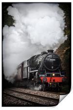 Mid Wales Steam Locomotive., Print