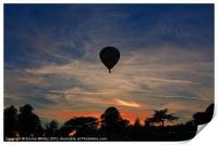 Sun Set over Derbyshire, Print