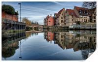 Fye Bridge, Norwich, Print
