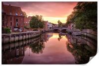 Fye Bridge Dawn, Norwich, Print
