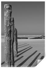 Wissant Beach Posts, Print