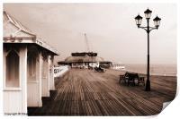 Along Cromer Pier, Print