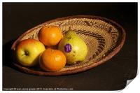 fruit basket still life, Print