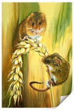 Harvest Mice, Print