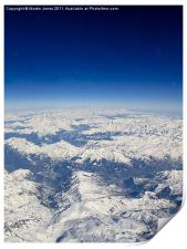 Southern Alps from 38000 feet, Print