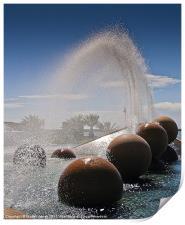 Water cascade, Print