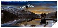Vulcan Thunder over Howden, Print