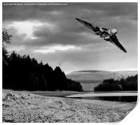Vulcan over Derwent, Print