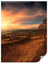 Curbar Edge Sunset, Print