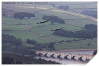 Lancasters in the Valley once Again, Print