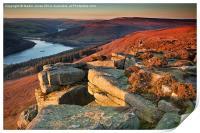 Bamford Edge Sundown, Print